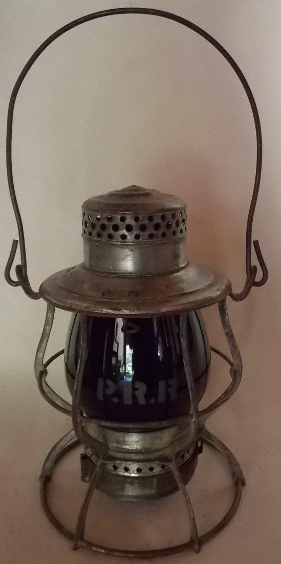 Pennsylvania Railroad Lantern Casey Green Etch - 2