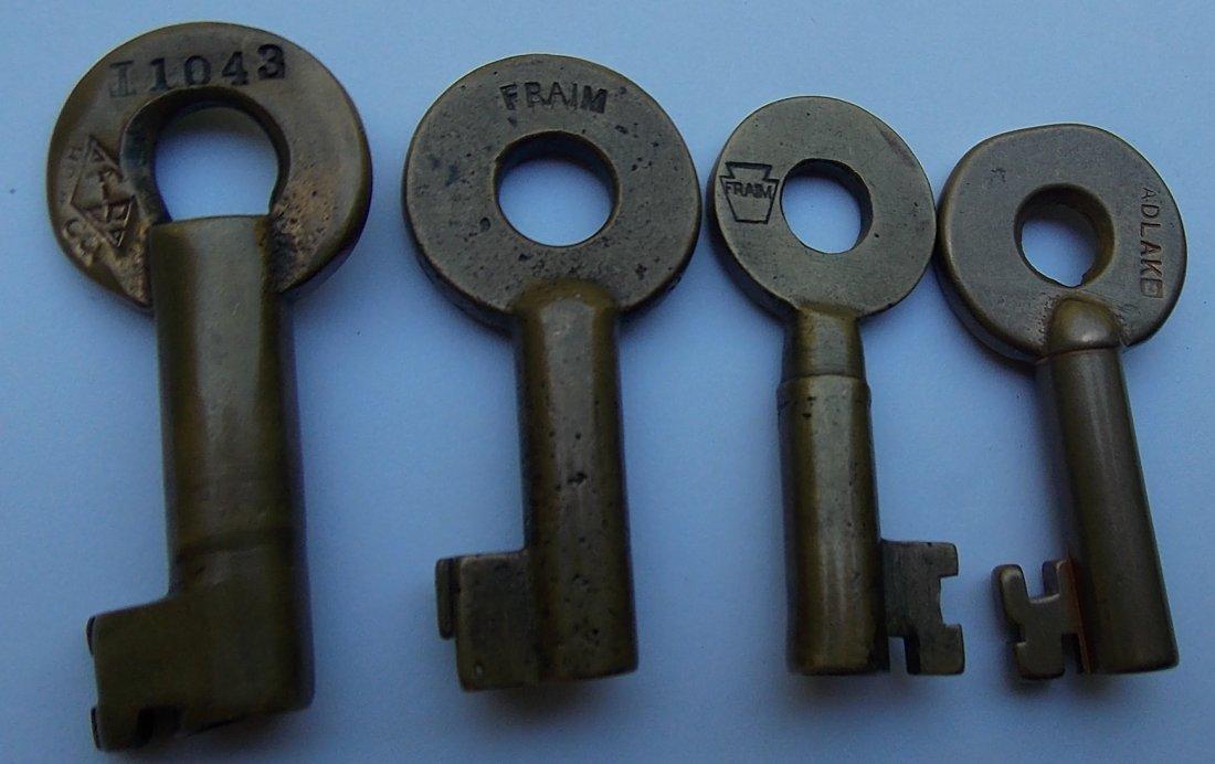 Railroad Switch Keys: M Ry, Erie, B&O, CN (4) - 2