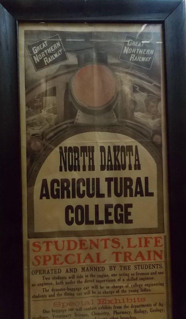 * Great Northern Railway Framed Broadside North Dakota - 2