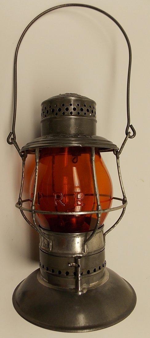 Amber Cast Pennsylvania Railroad Lantern