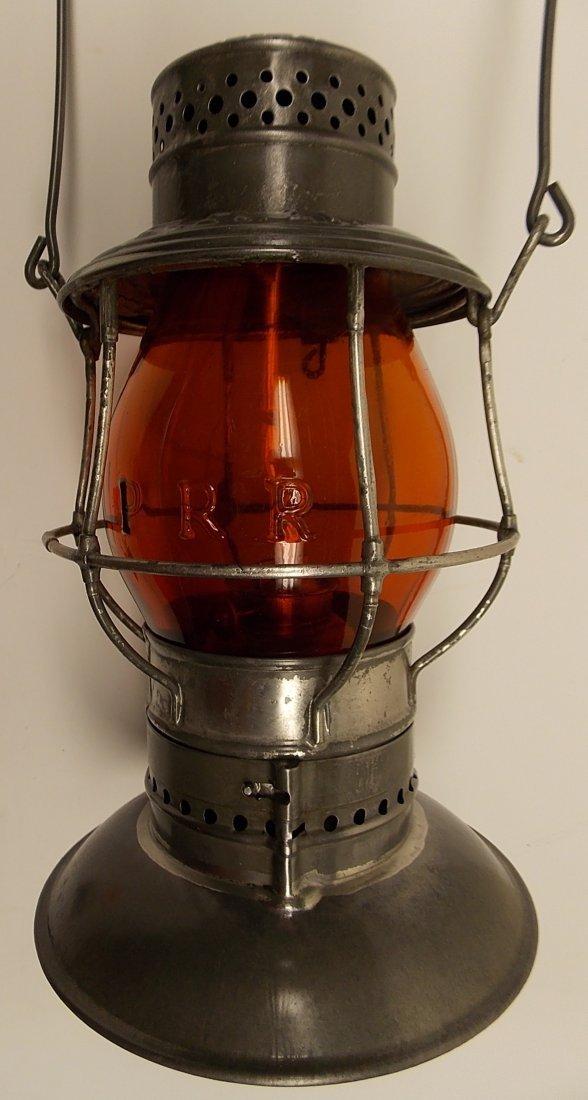 Amber Cast Pennsylvania Railroad Lantern - 2