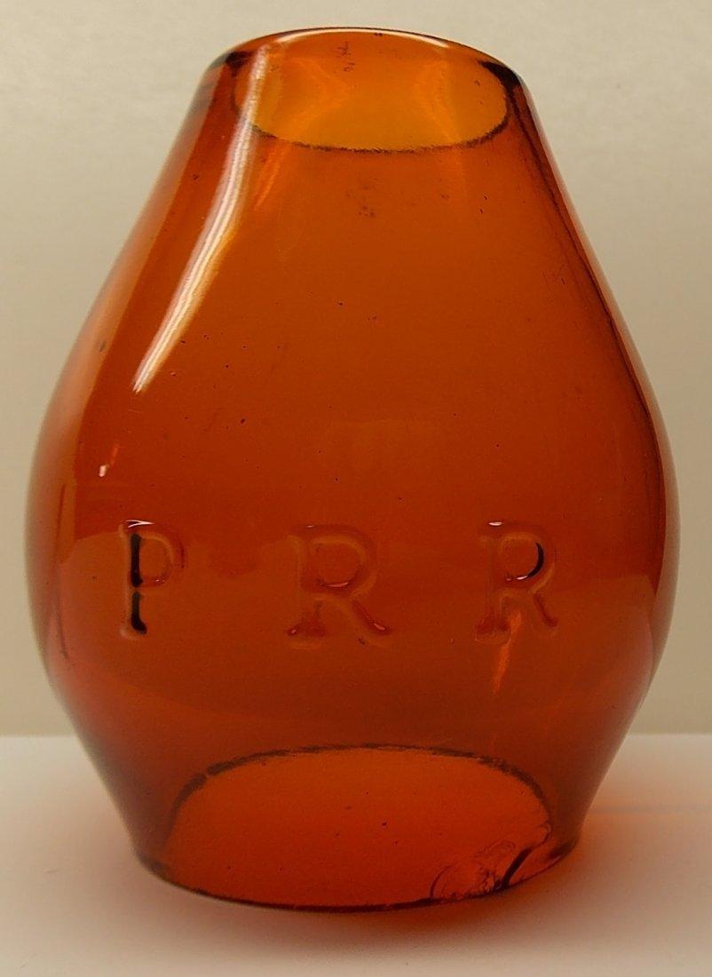 Amber Cast Pennsylvania Railroad Lantern - 5