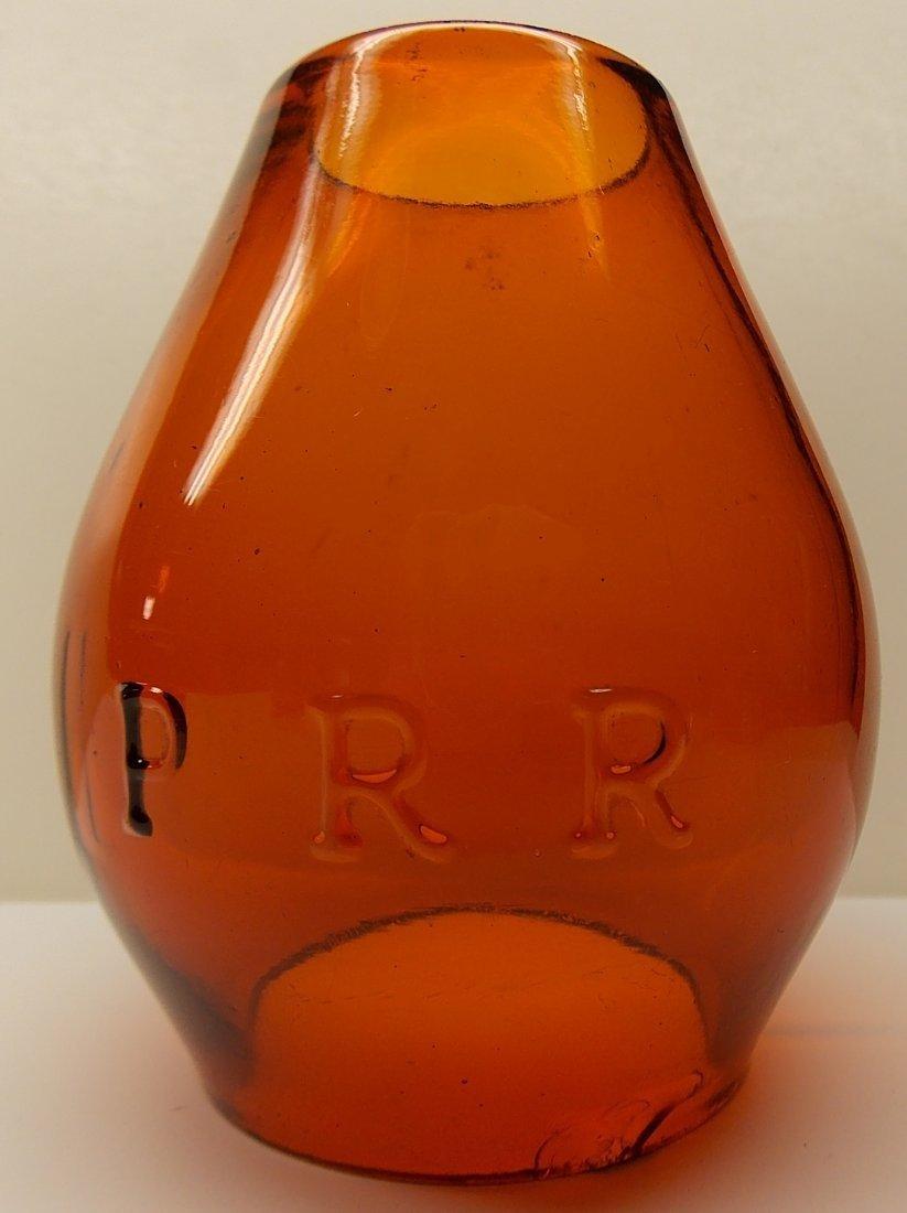 Amber Cast Pennsylvania Railroad Lantern - 7