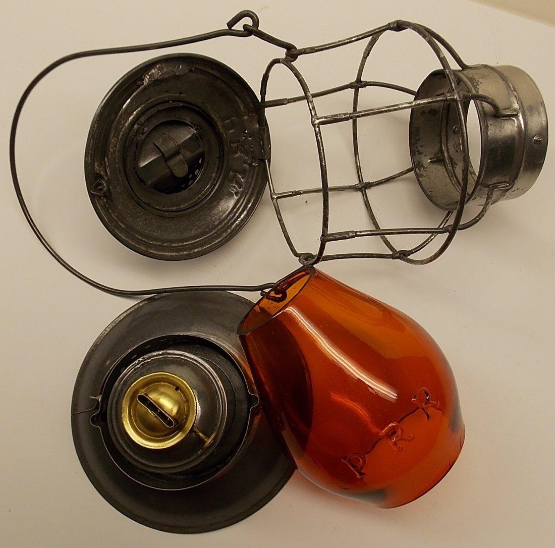 Amber Cast Pennsylvania Railroad Lantern - 8