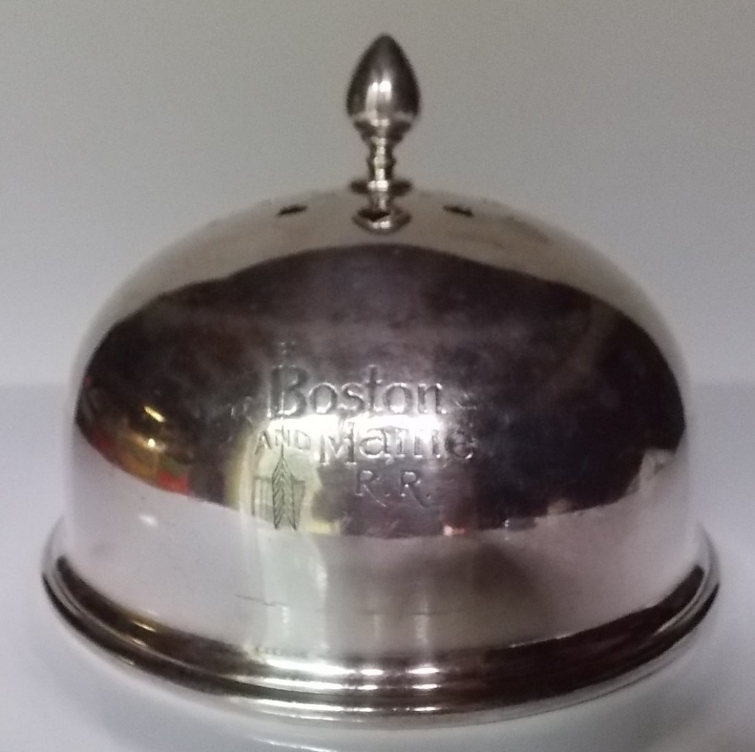Boston & Maine Railroad Silver Food Cover