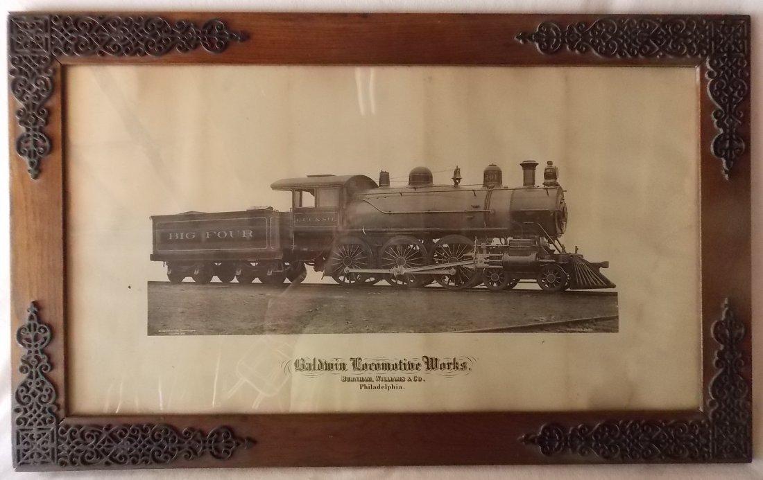 Big Four Locomotive Builder's Photo Framed