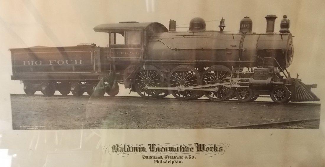 Big Four Locomotive Builder's Photo Framed - 2