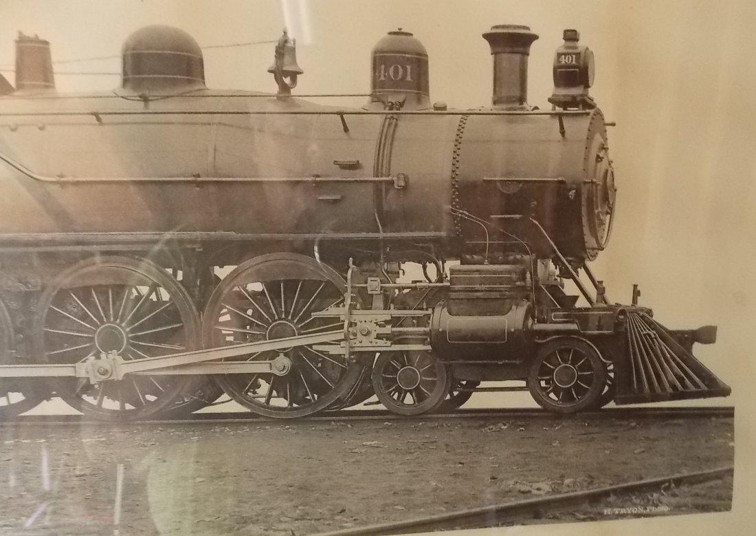 Big Four Locomotive Builder's Photo Framed - 4