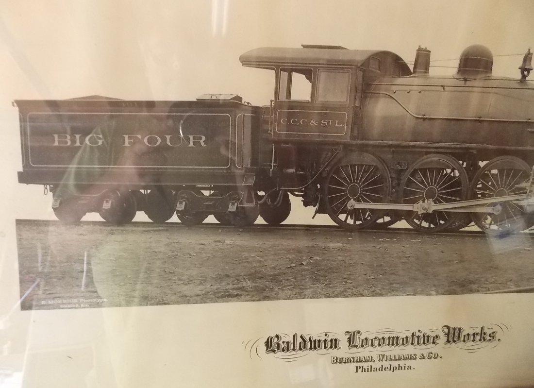 Big Four Locomotive Builder's Photo Framed - 5