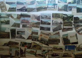 Postcards (210+) many Railroad, some RPPC