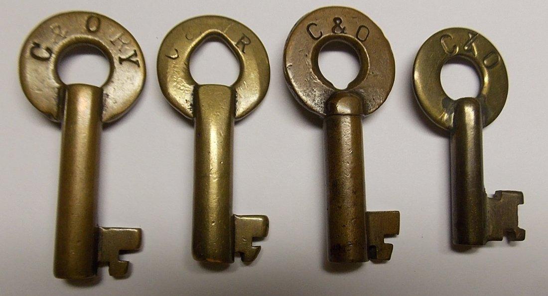 Chesapeake & Ohio Brass Switch Keys