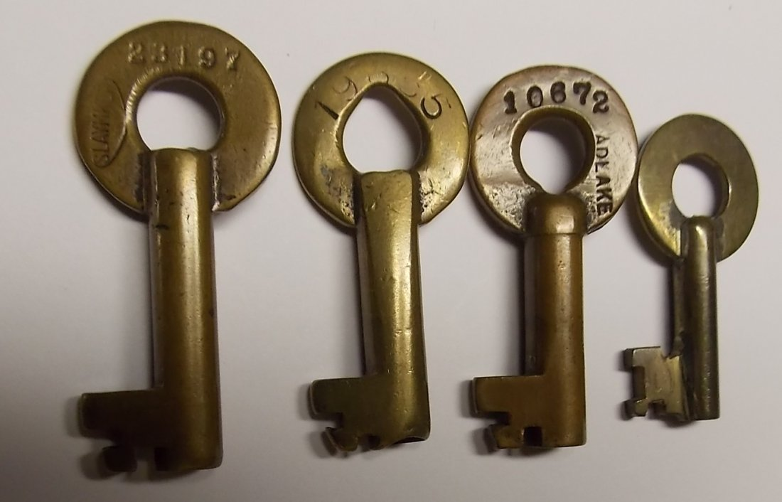 Chesapeake & Ohio Brass Switch Keys - 2