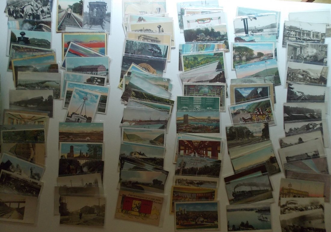 Postcards (115+) PA, NY, some Wrecks
