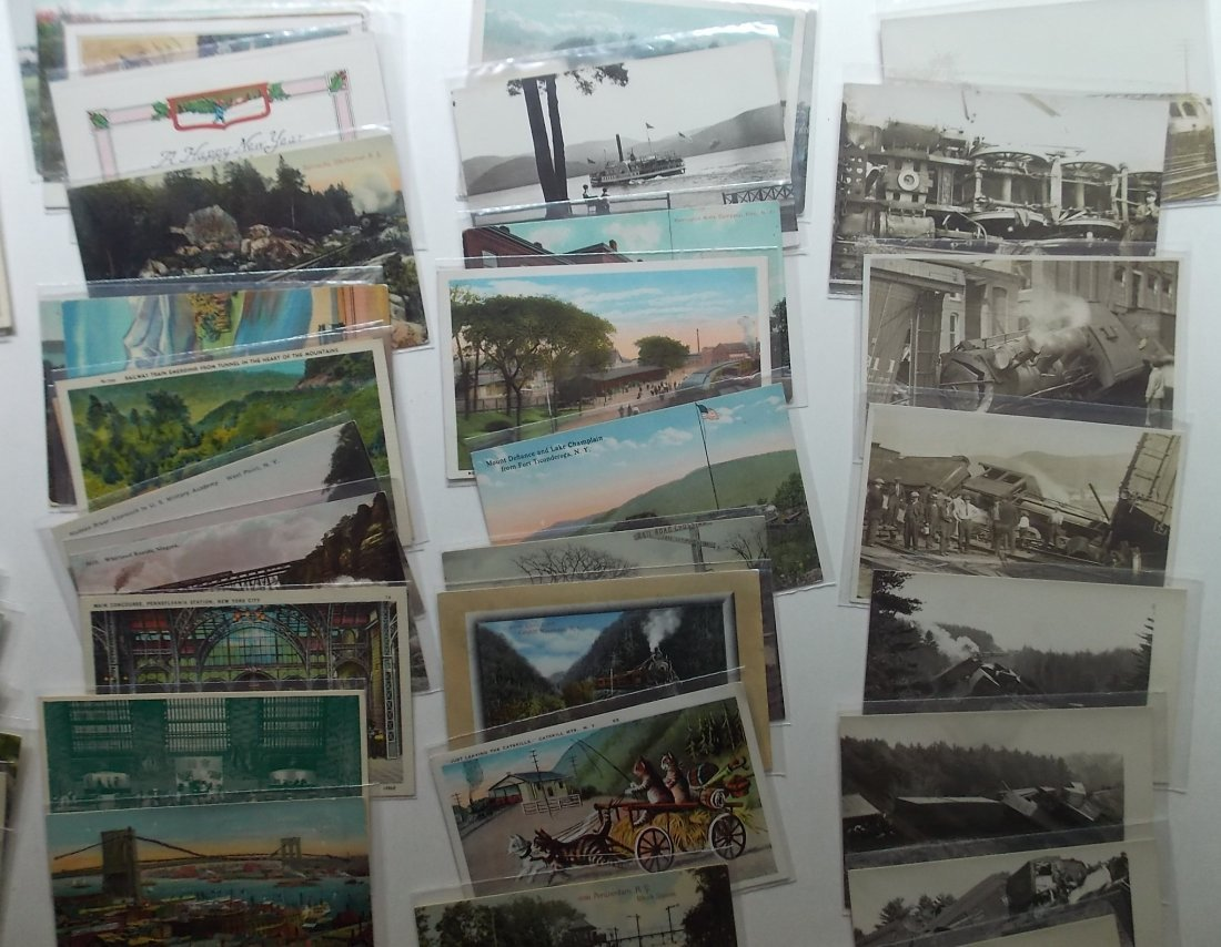 Postcards (115+) PA, NY, some Wrecks - 4