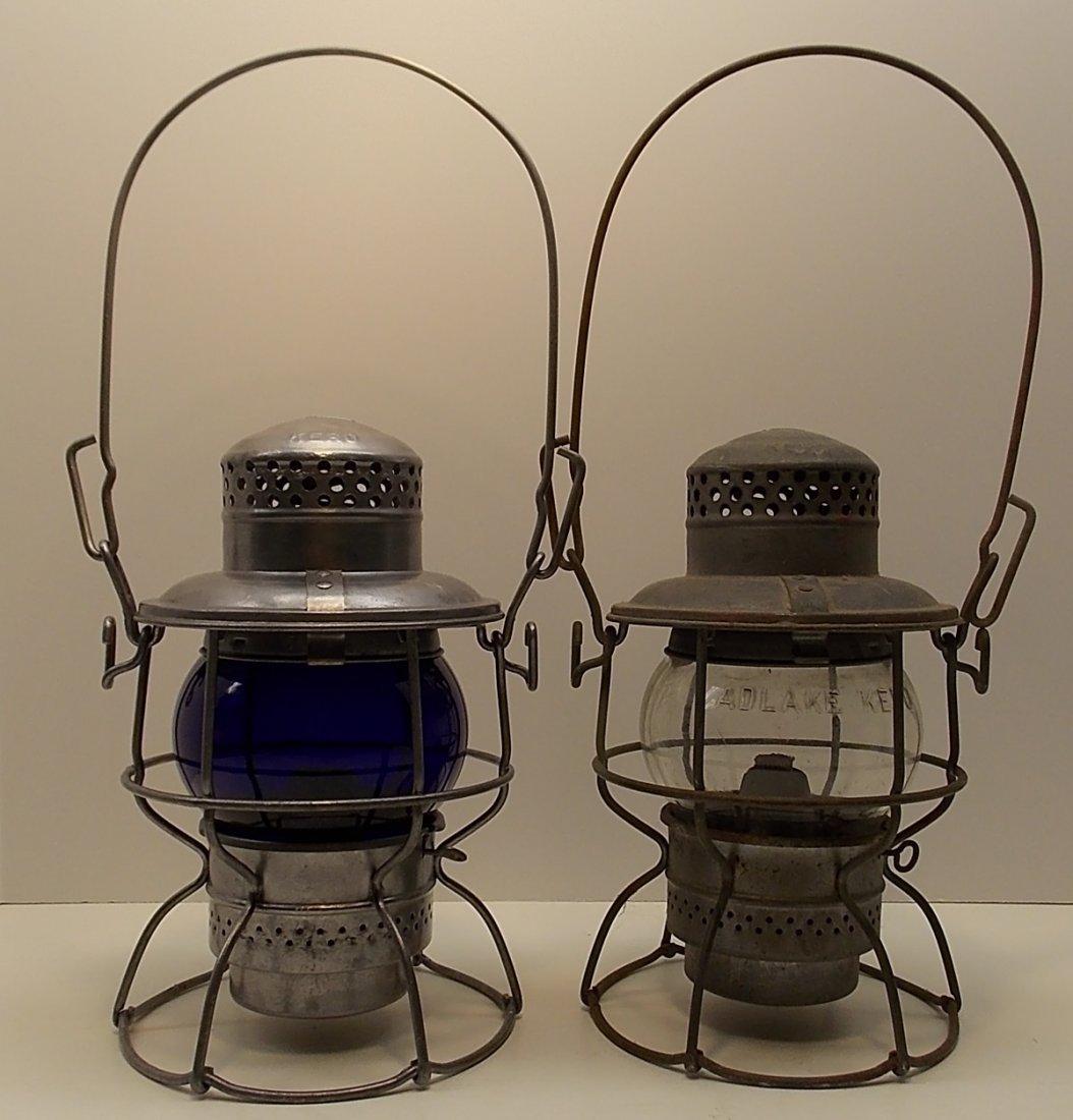 2 Penn Central Lanterns Blue, Clear - 2