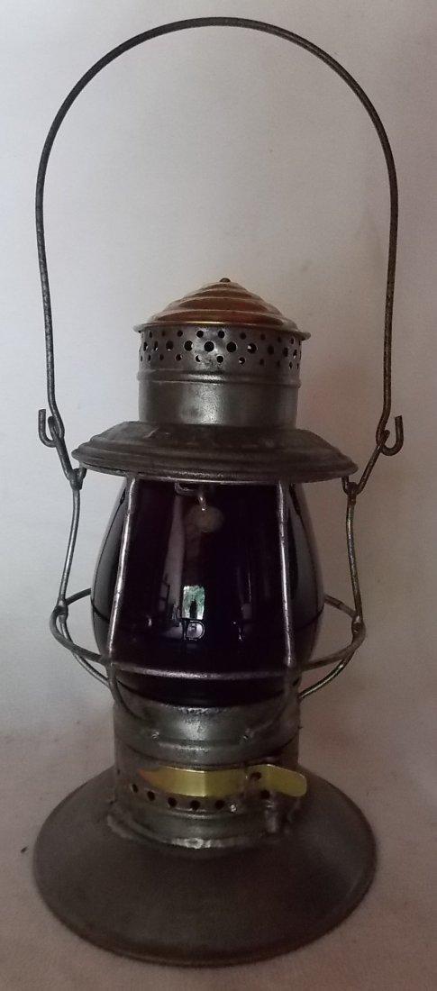 Pennsylvania Railroad A&W BTBB Lantern MacB Red Cast - 2