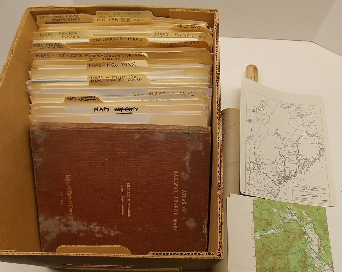 Large Group of Railroad Maps