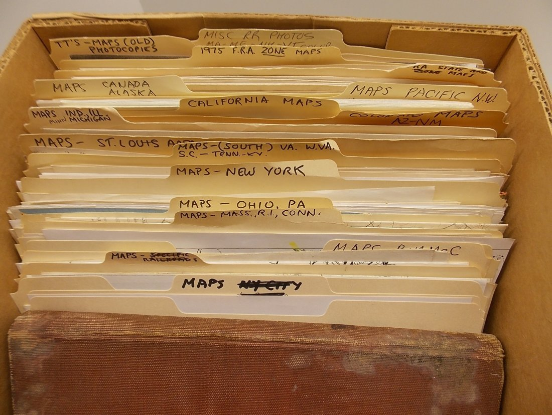 Large Group of Railroad Maps - 2