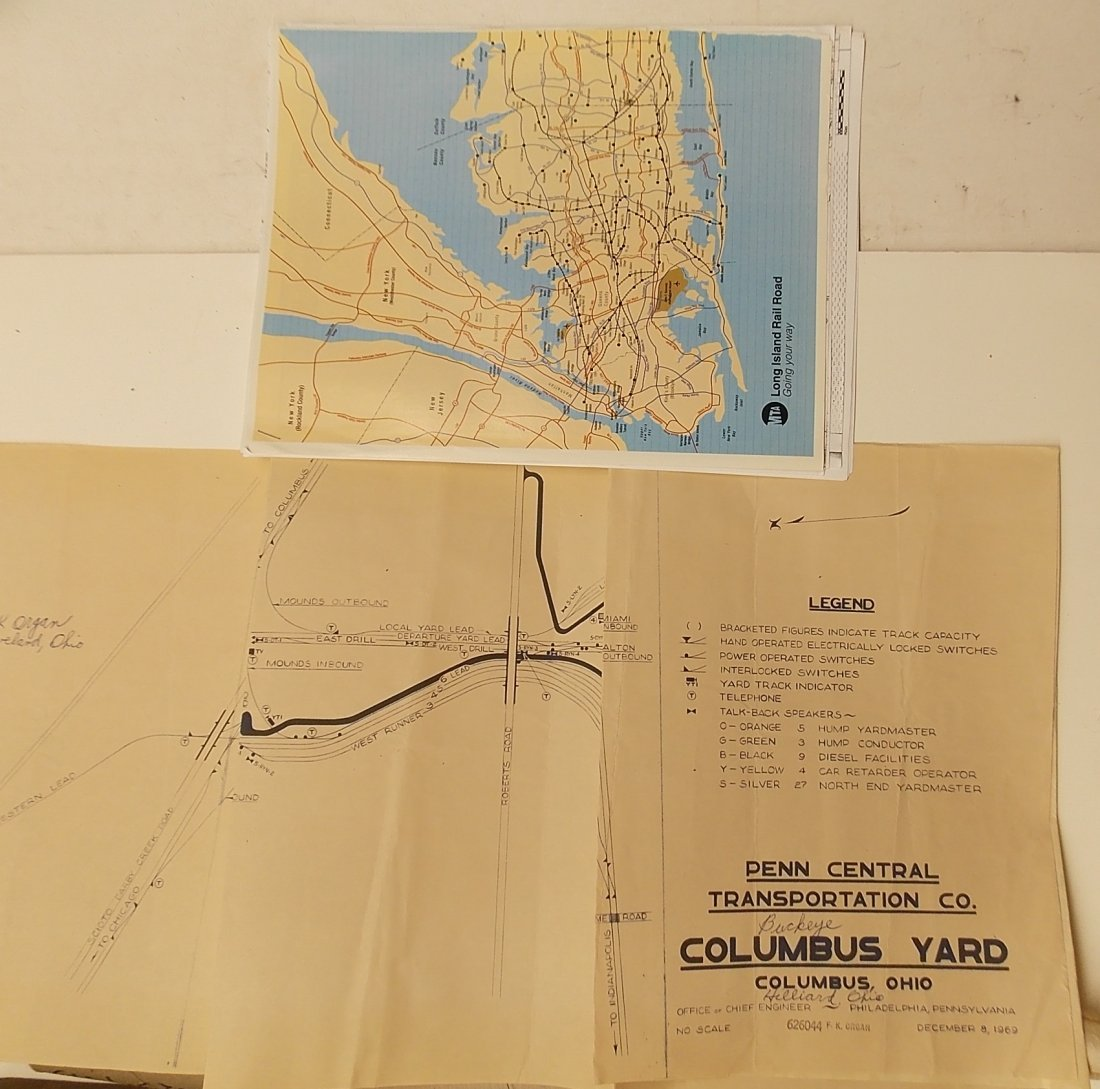 Large Group of Railroad Maps - 3