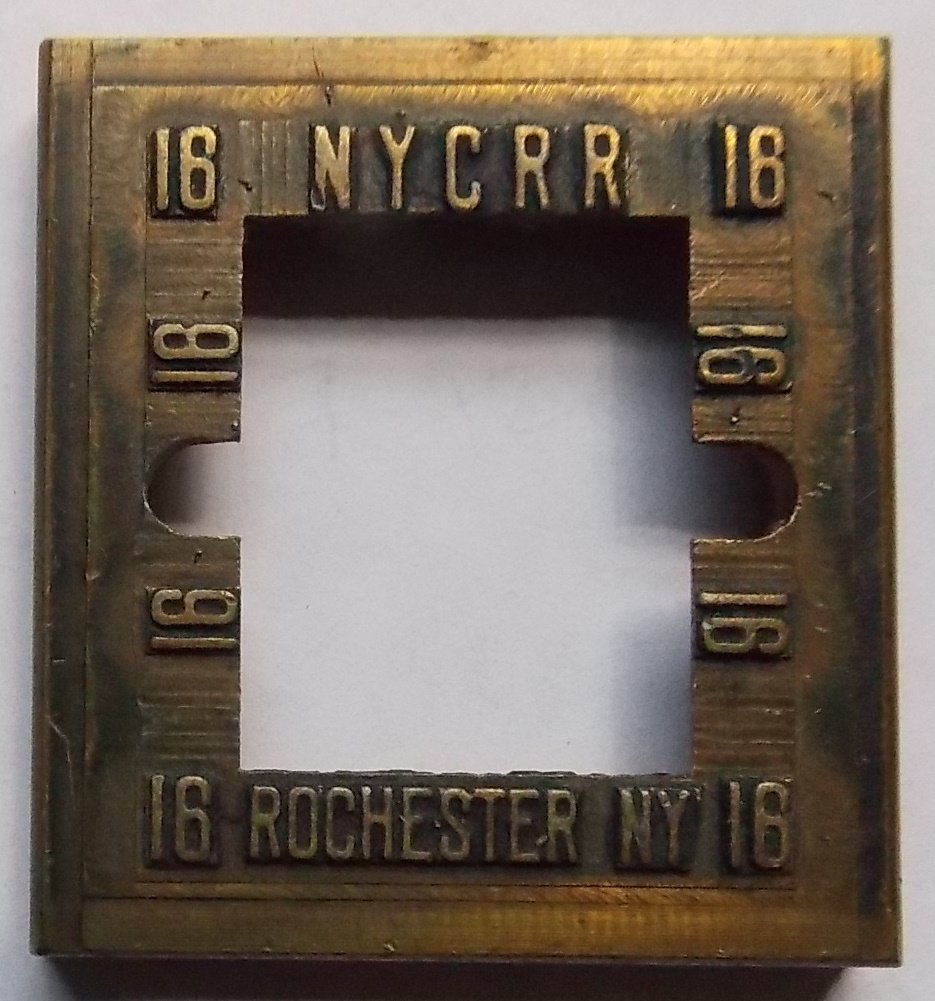 New York Central Dater Die - Rochester NY - 2