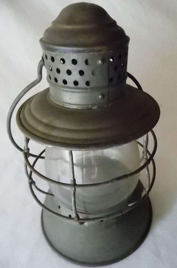2 Brasstop Bellbottom Railroad Lanterns - 2
