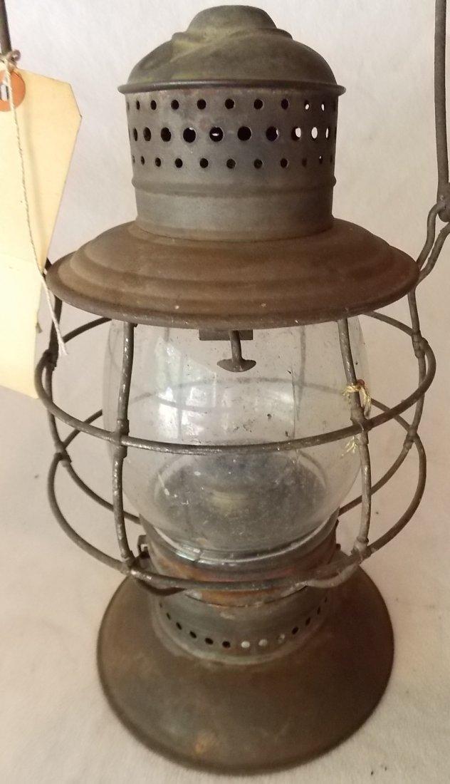 2 Brasstop Bellbottom Railroad Lanterns - 3