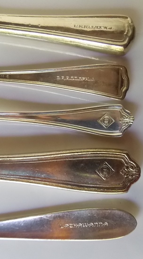 CRR of NJ, Erie, DL&W Silver Flatware (5) - 2