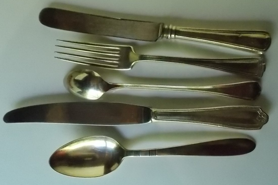 CRR of NJ, Erie, DL&W Silver Flatware (5) - 3