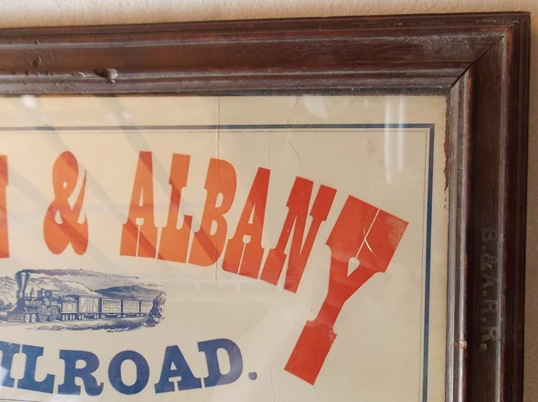Framed Boston & Albany Depot Timetable - 2