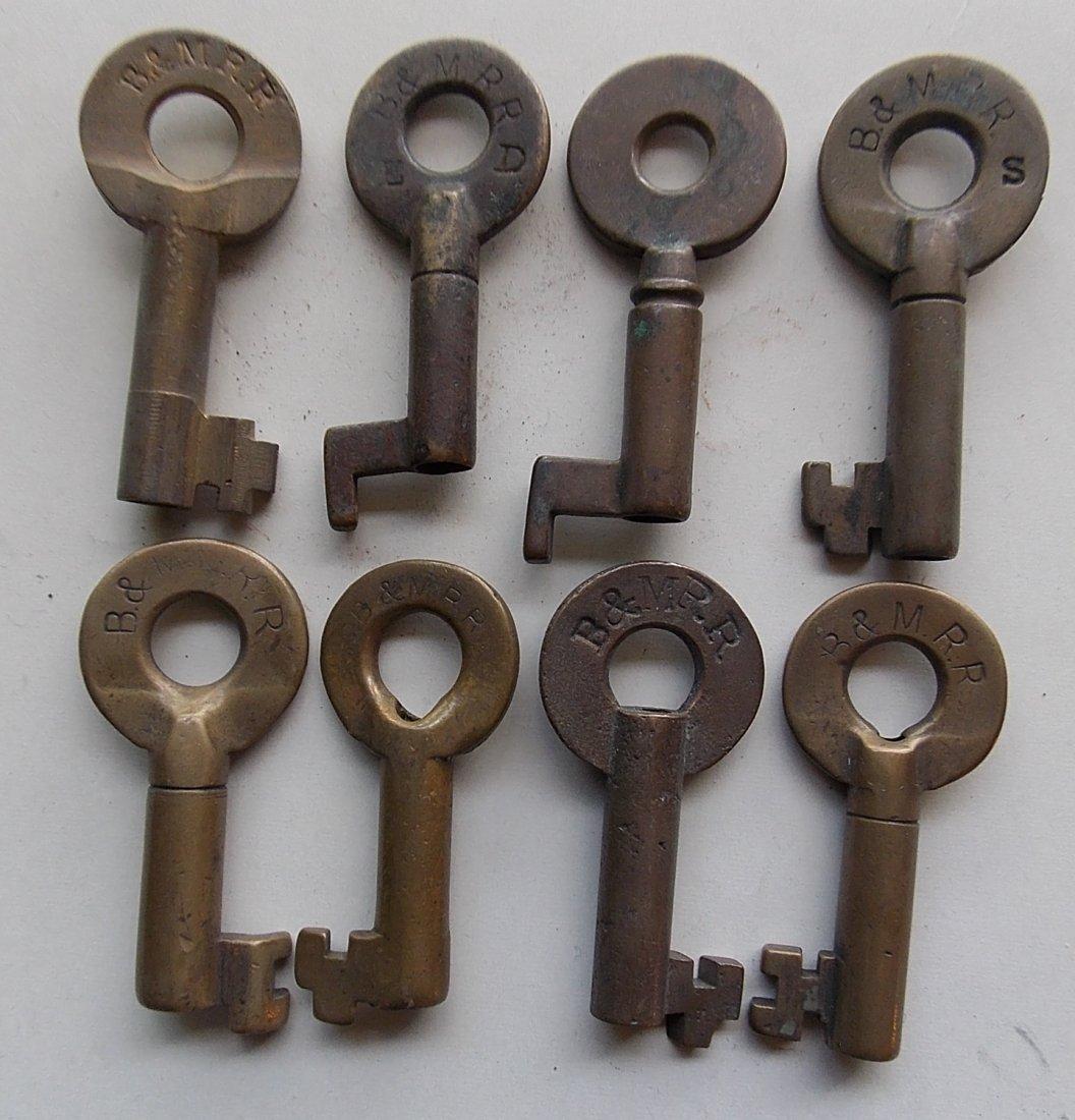 8 Boston & Maine Switch Style Keys