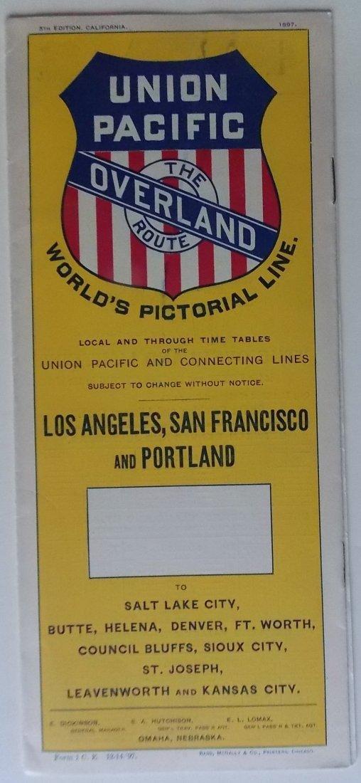 Union Pacific Railroad 1897 Timetable