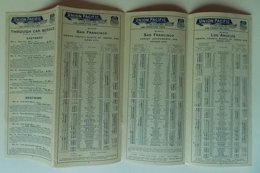 Union Pacific Railroad 1897 Timetable - 2