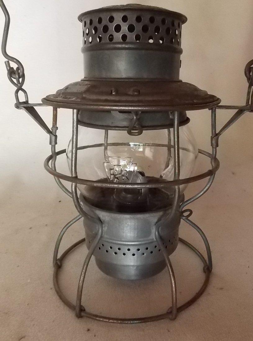Pennsylvania Railroad Lantern Adlake 250 GlasBake