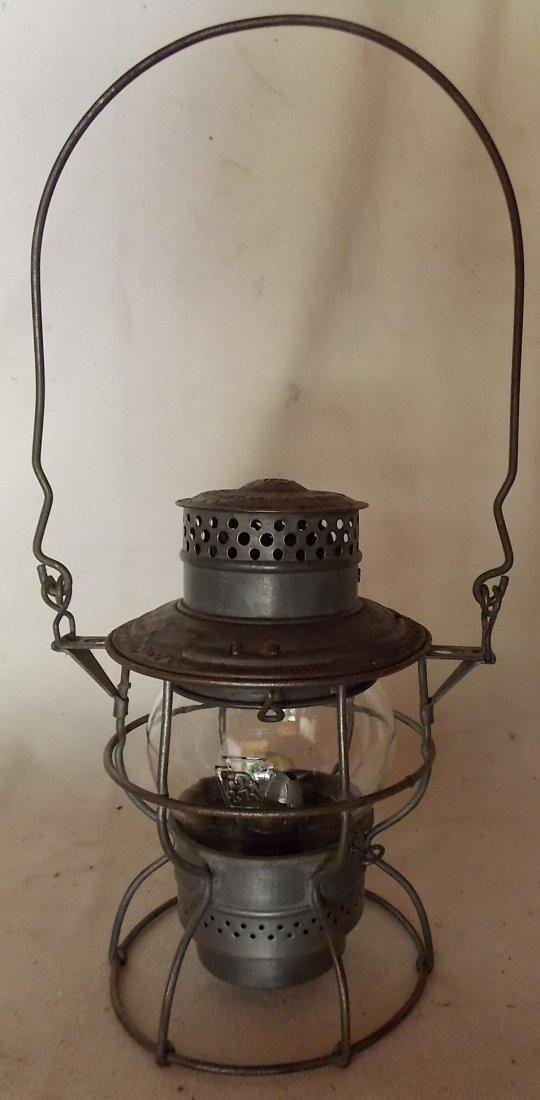 Pennsylvania Railroad Lantern Adlake 250 GlasBake - 2