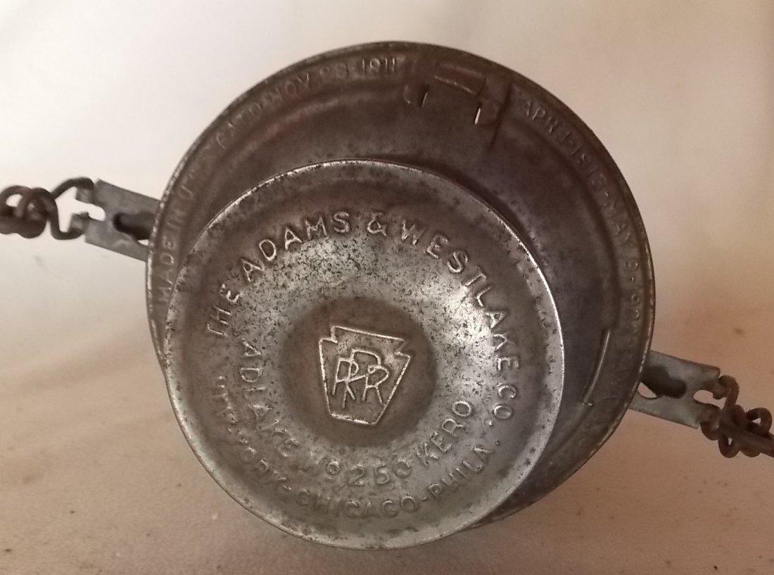 Pennsylvania Railroad Lantern Adlake 250 GlasBake - 3