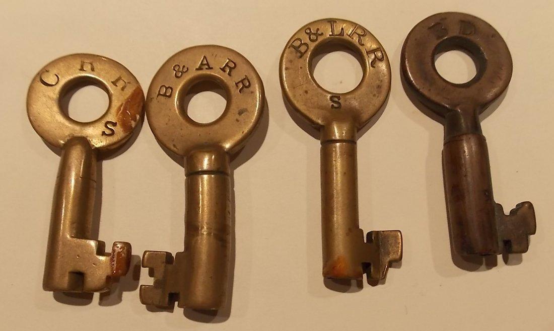 4 Older Switch Keys B&L, CRR, B&A, BD