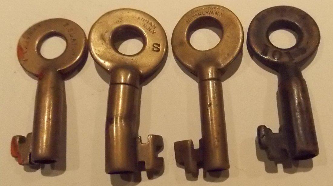4 Older Switch Keys B&L, CRR, B&A, BD - 2