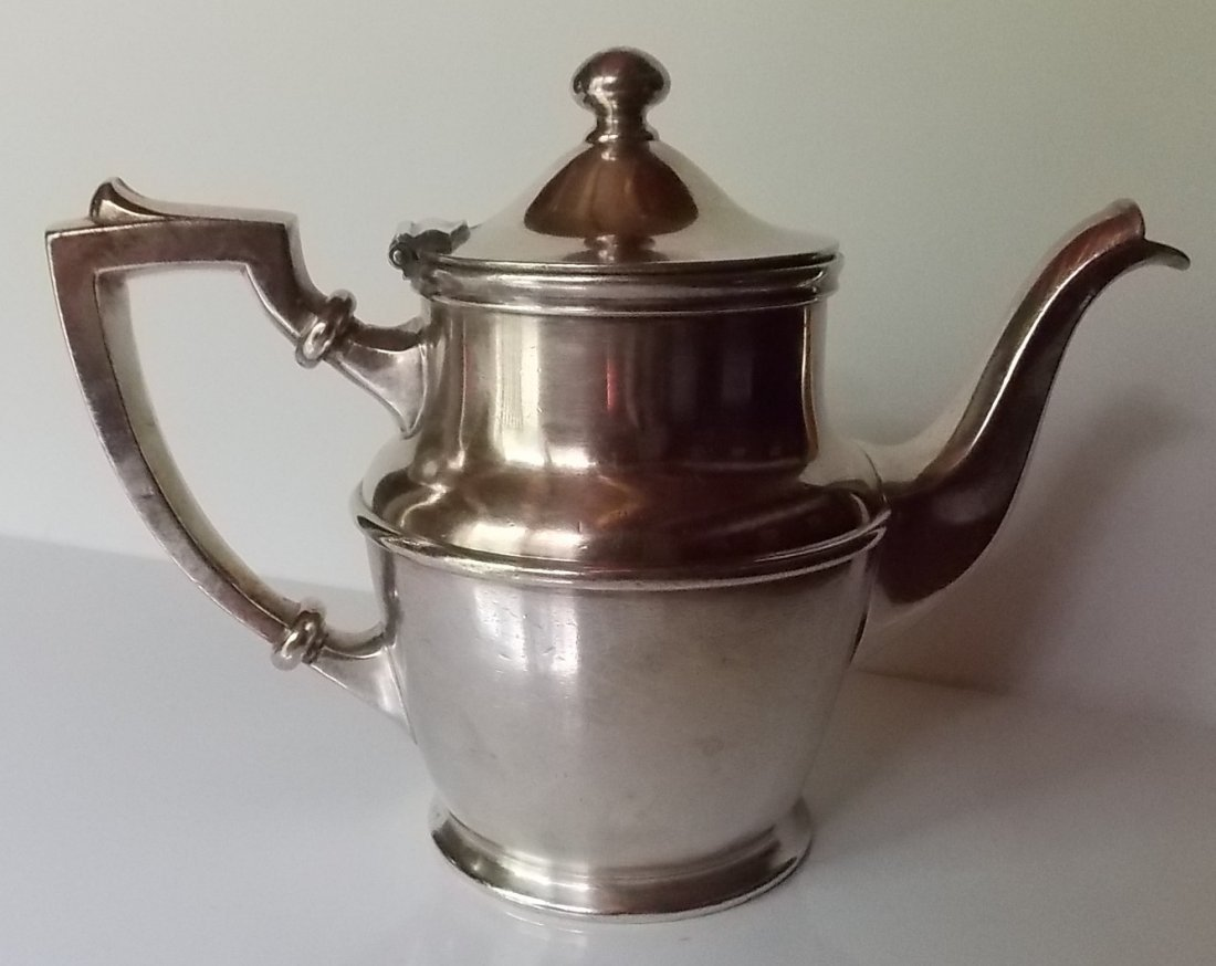 New Haven Railroad Silver Coffee Pot - 2