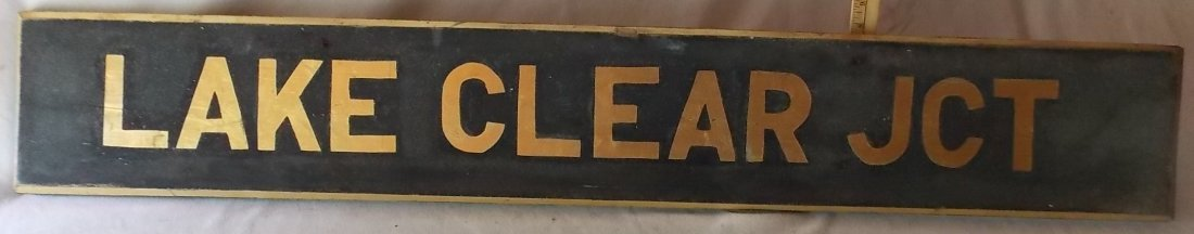Lake Clear Junction Depot Sign NY