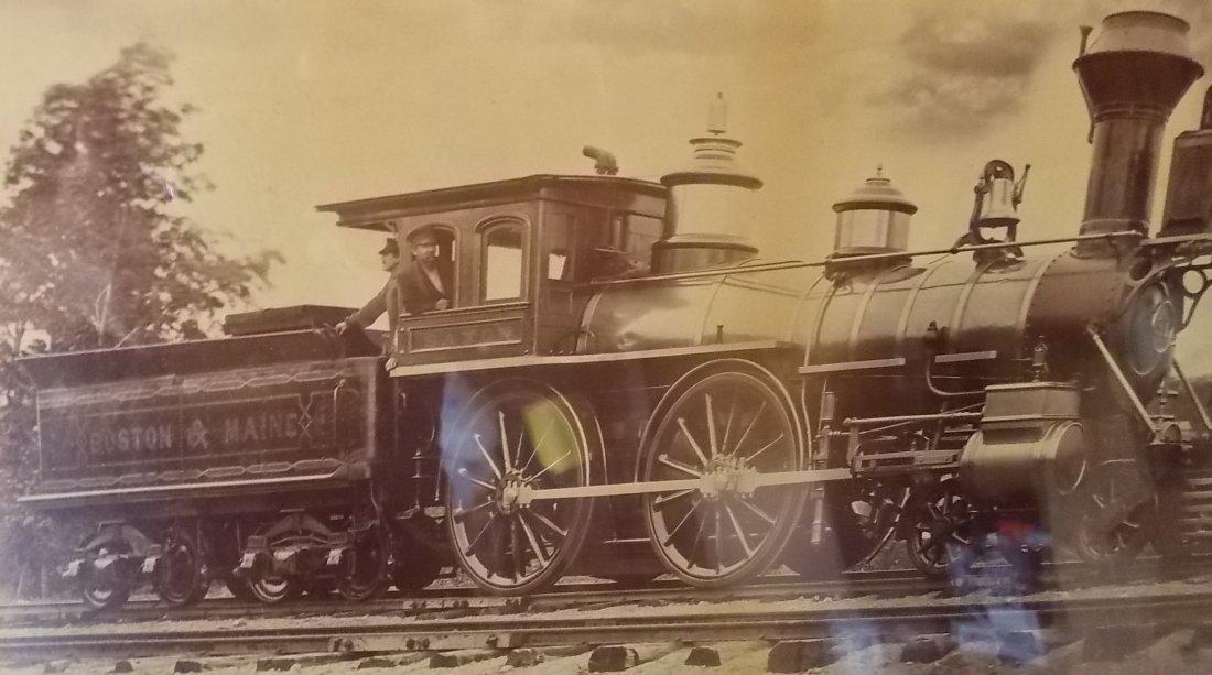 Boston & Maine Locomotive Saxon Photograph - 2