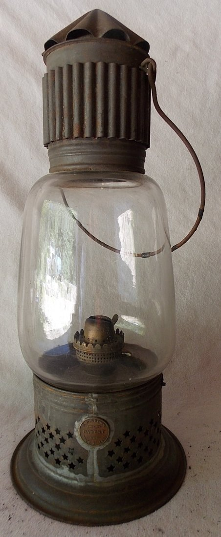 J. D. Brown Fixed Globe Lantern patd May 29, 1860