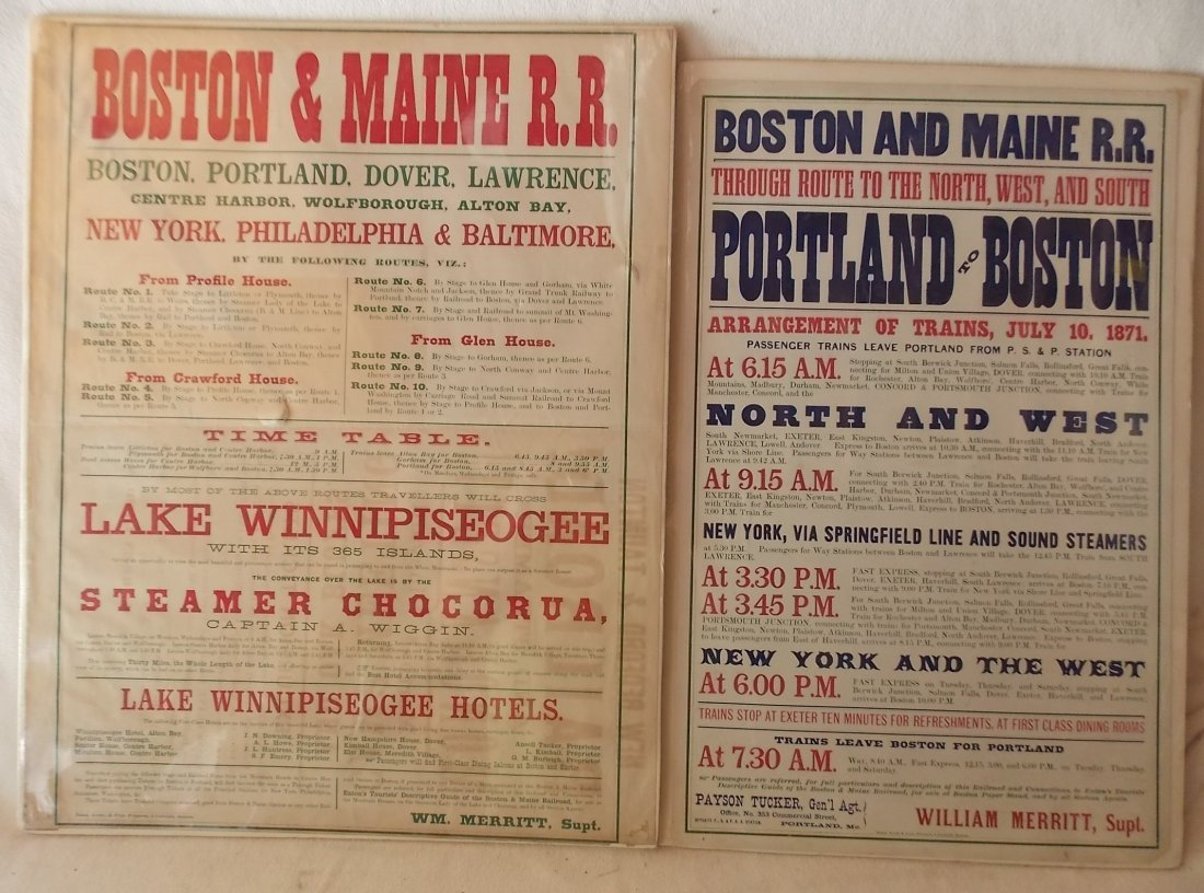 Boston & Maine Depot Timetables - 2