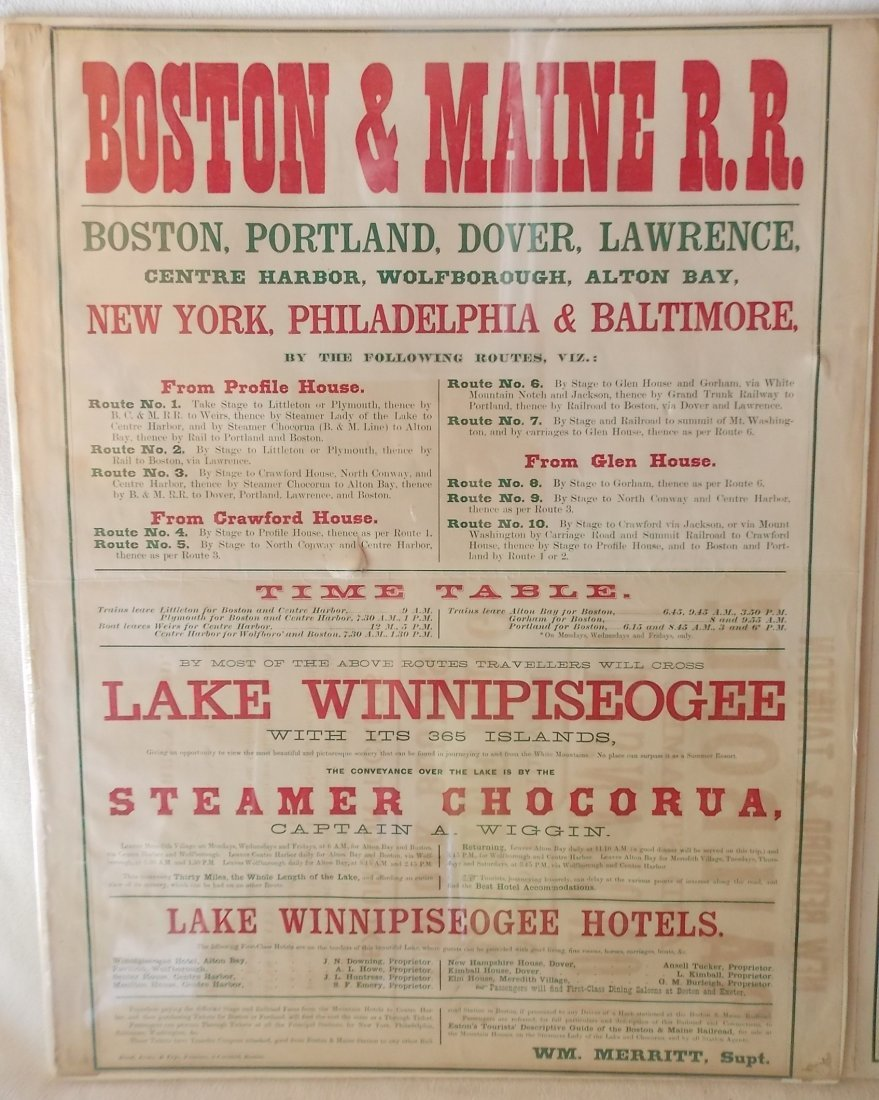 Boston & Maine Depot Timetables - 2 - 2