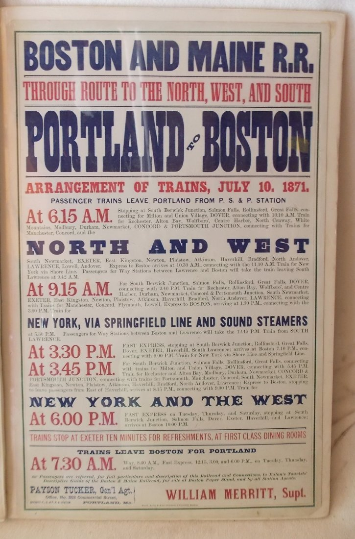 Boston & Maine Depot Timetables - 2 - 3