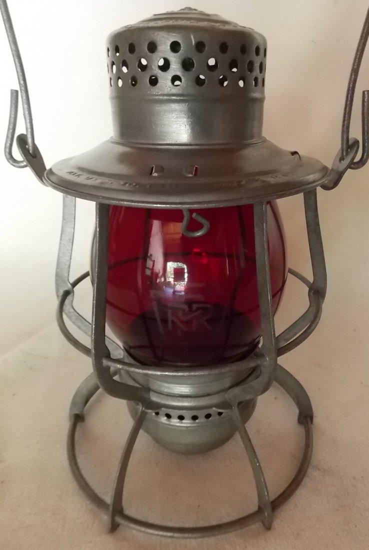 Pennsylvania Railroad Lantern Keystone #39 Red Etch