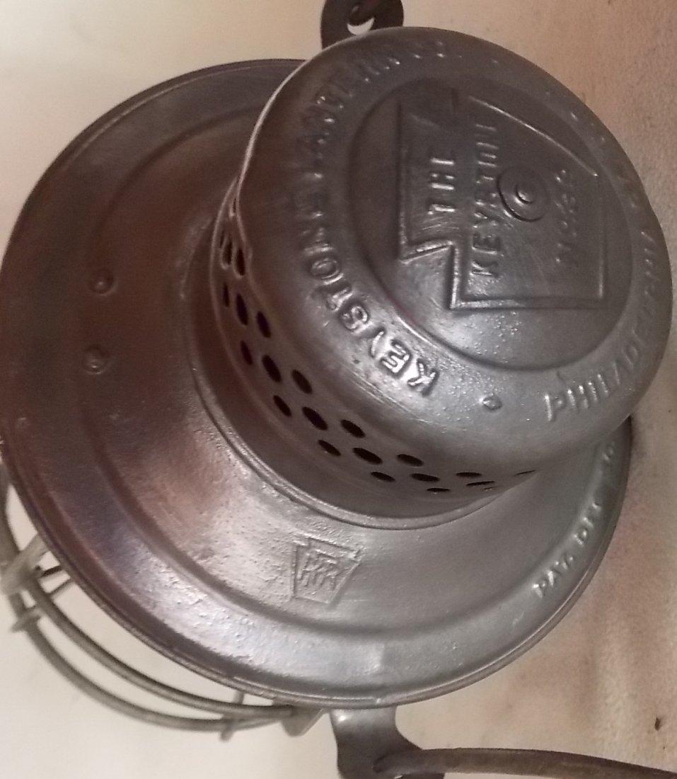 Pennsylvania Railroad Lantern Keystone #39 Red Etch - 3