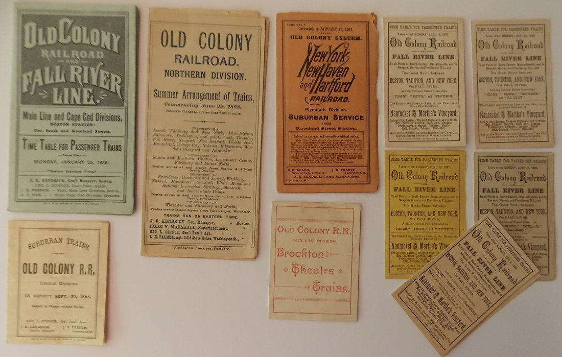 Old Colony & New Haven Timetables