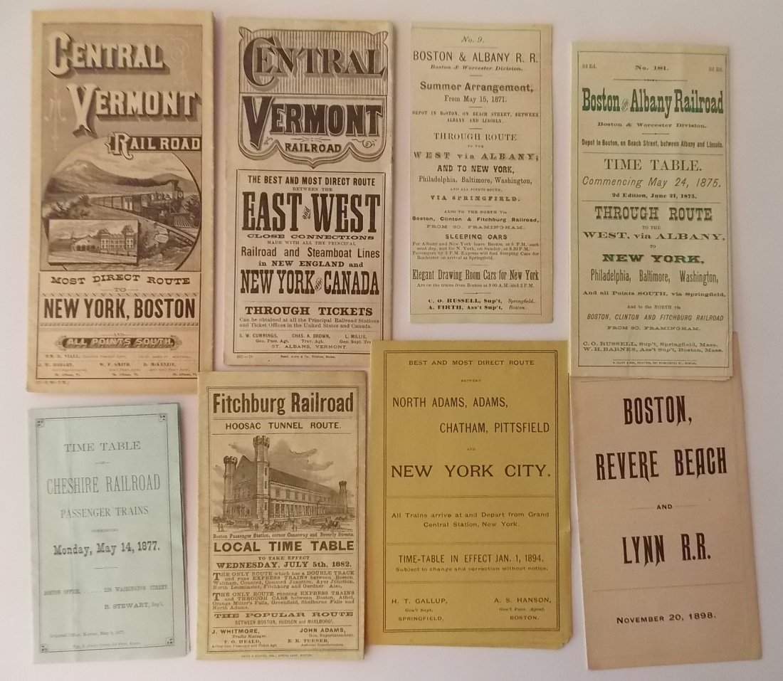 8 New England related Timetables