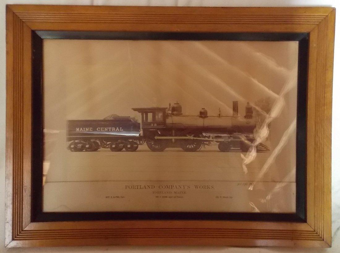 Maine Central Locomotive #98 Photograph