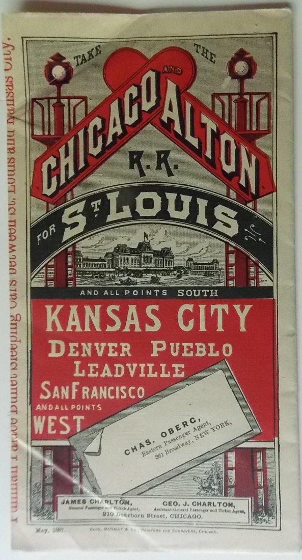 Chicago & Alton Railroad 1887 Timetable